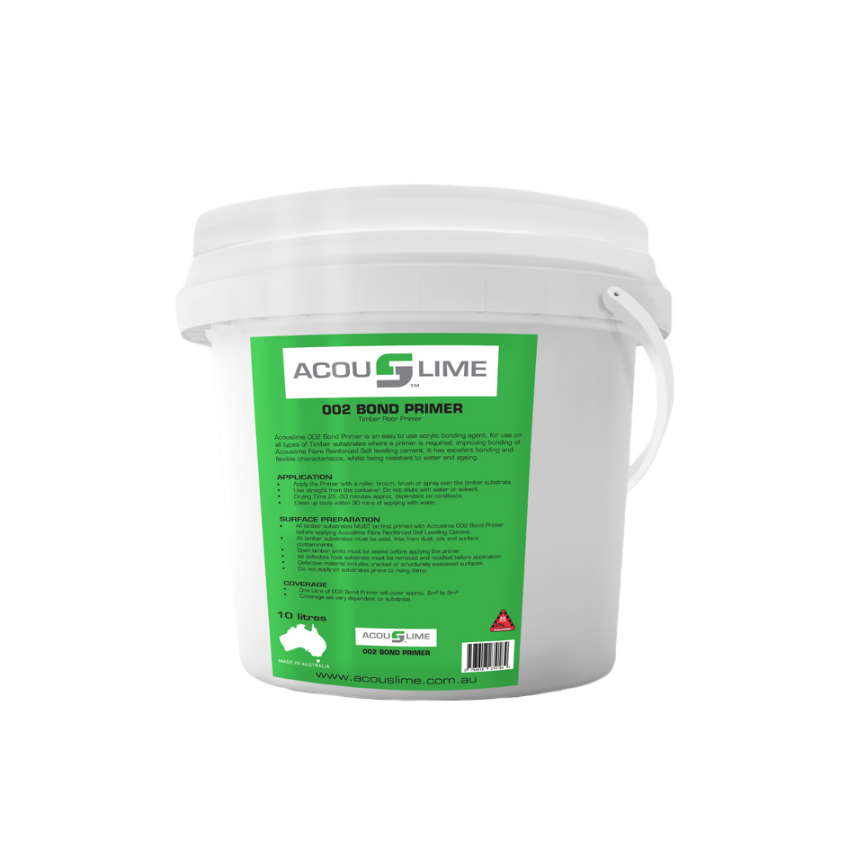 ACOUSLIME 002 BOND PRIMER BUCKET WITH WHITE LID
